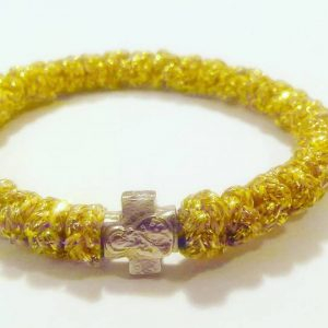 Gold Prayer Rope Bracelet