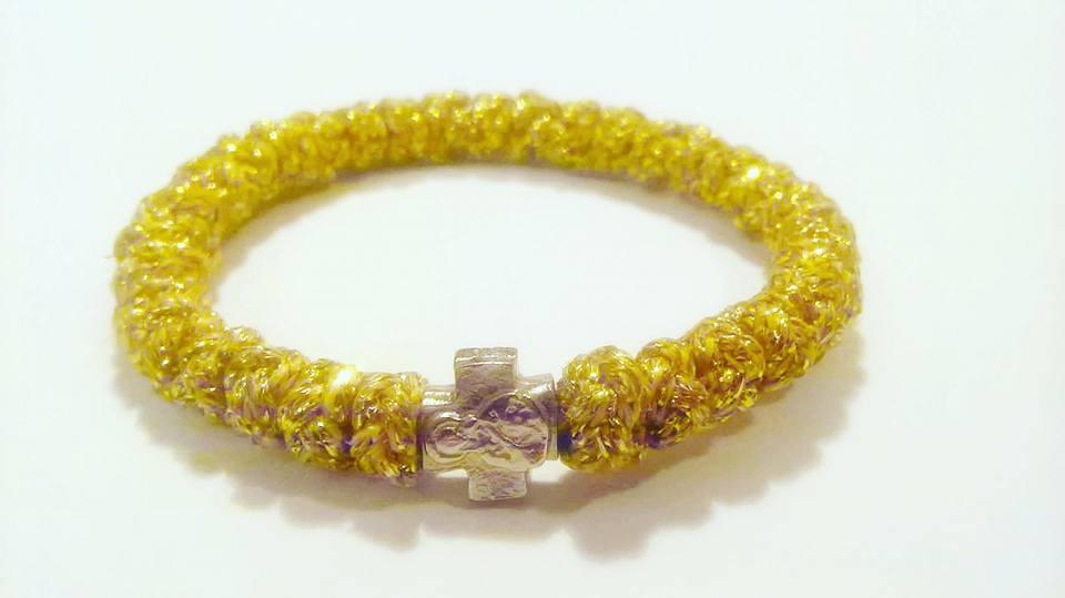 Handmade orthodox gold prayer rope bracelet