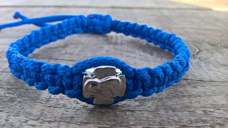 Handmade christian blue prayer rope bracelet