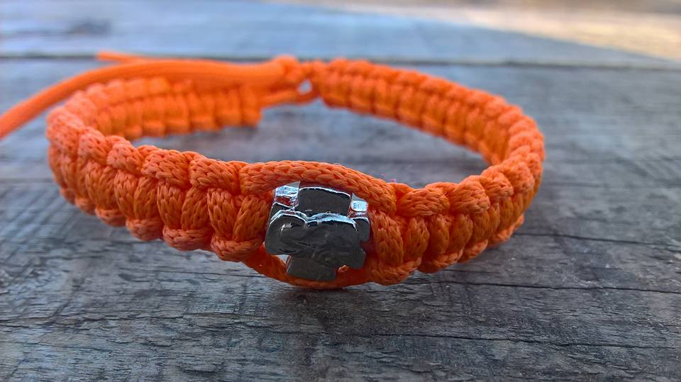 Handmade christian orange prayer rope bracelet