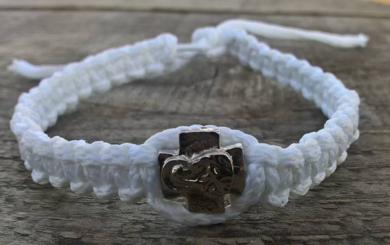 Handmade christian white prayer rope bracelet