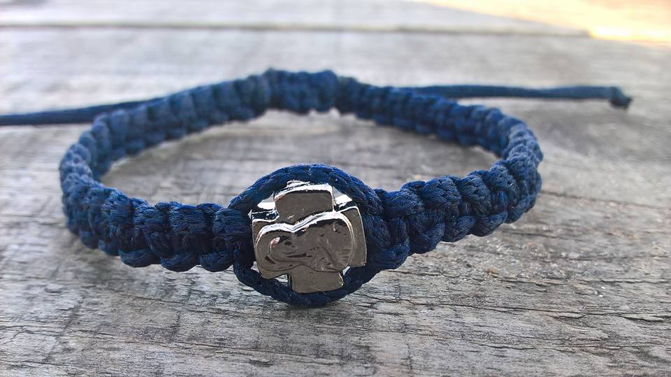 Handmade christian blue navy prayer rope bracelet