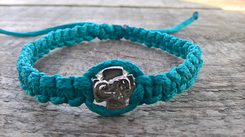 Handmade christian green prayer rope bracelet