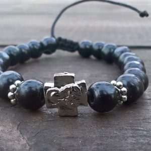 Black Prayer Beads Bracelet