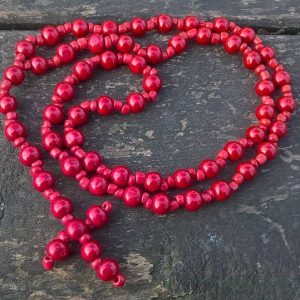 Red Prayer Beads Necklace