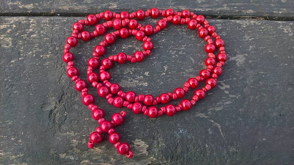 Handmade christian prayer beads necklace