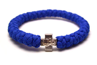 Handmade orthodox blue prayer rope bracelet