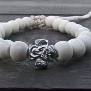 Beige Prayer Beads Bracelet
