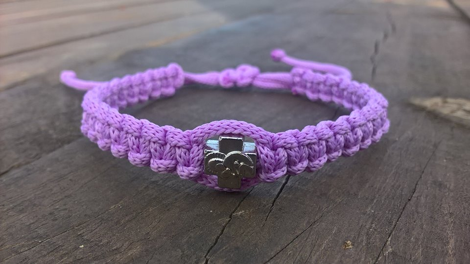 Handmade christian lilac prayer rope bracelet