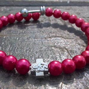 Red Prayer Beads Bracelet