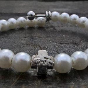 White Prayer Beads Bracelet