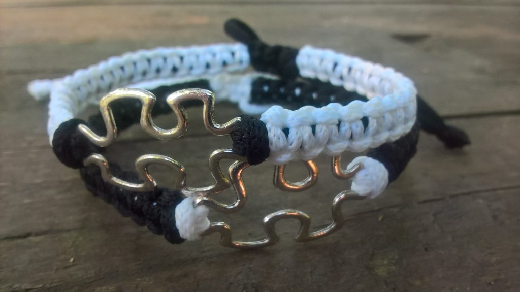 Puzzle matching bracelets, couples bracelets, friendship bracelets, long distance gift, personalized couples jewelry