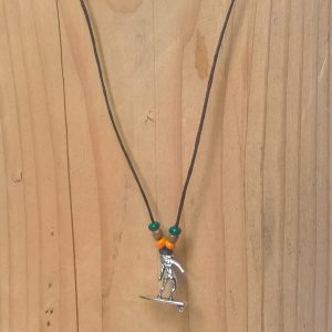 Handmade surfer necklace
