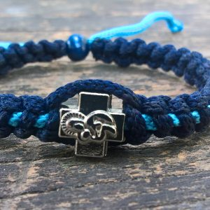 Handmade christian blue navy-blue light prayer rope bracelet