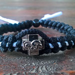 Handmade christian black-white prayer rope bracelet
