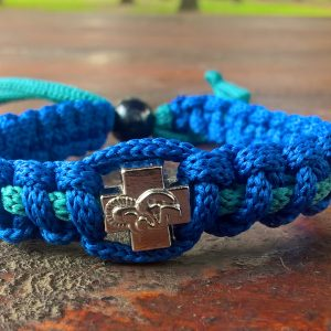 Handmade christian blue-green prayer rope bracelet