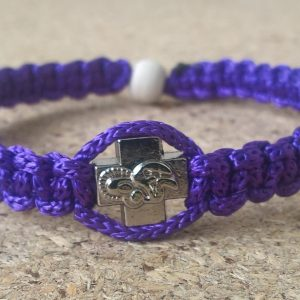 Handmade christian purple prayer rope bracelet