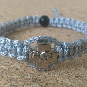 Handmade christian silver gray prayer rope bracelet