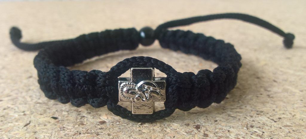 Handmade christian black prayer rope bracelet