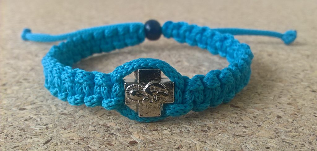 Handmade christian blue light prayer rope bracelet
