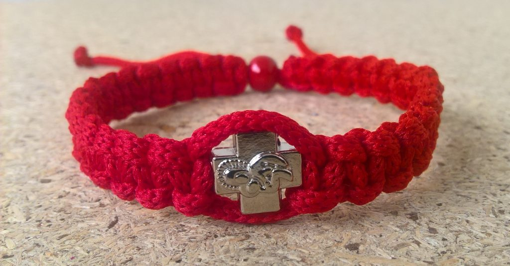 Handmade christian red prayer rope bracelet