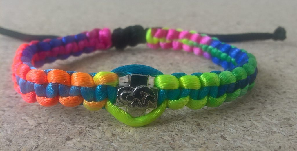 Handmade multi color christian prayer rope bracelet satin