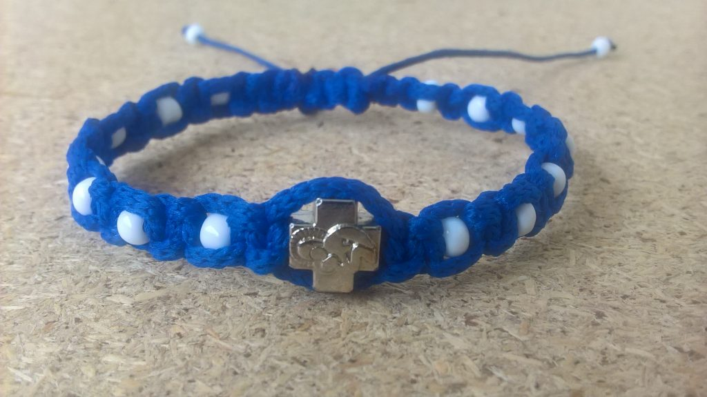 Handmade christian blue with white beads prayer ropes, beads bracelet