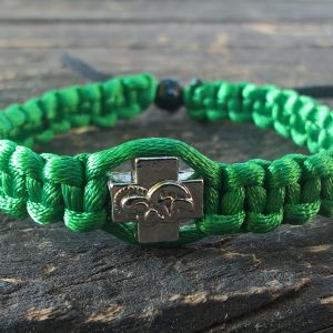 Handmade green light christian prayer rope bracelet satin