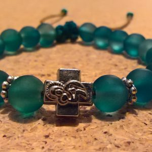 Handmade christian green prayer beads bracelet